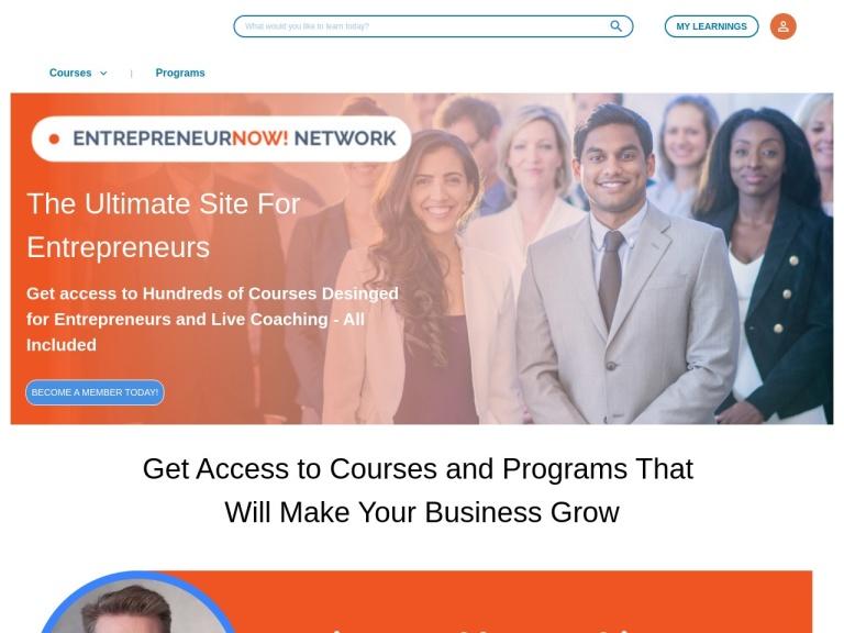 EntrepreneurNOW! Network screenshot