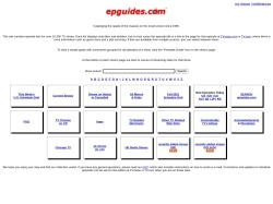 epguides.com - Series Menu by Year