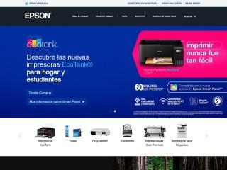 Captura de pantalla para epson.com.ve