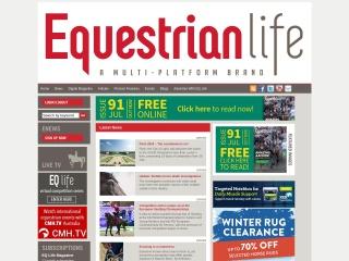 Screenshot for equestrianlife.com.au