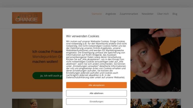 www.erfolgorange.de Vorschau, Erfolg Orange