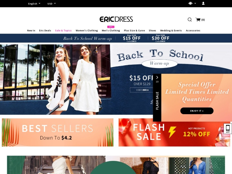 Ericdress.com screenshot