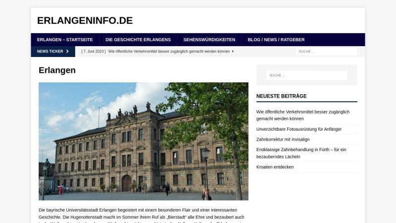 www.erlangeninfo.de Vorschau, ErlangenInfo