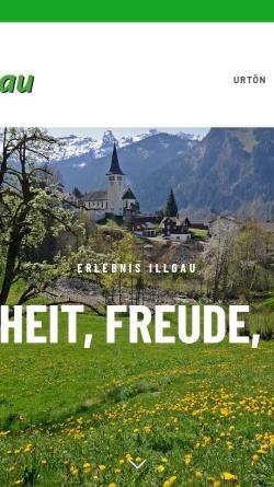 Vorschau der mobilen Webseite www.erlebnis-illgau.ch, Erlebnis Illgau
