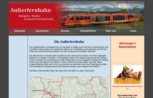 Vorschau von www.erlebnisbahn.at, Außerfernbahn