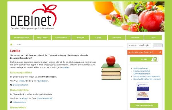 Vorschau von www.ernaehrung.de, DEBInet