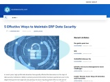 5 Effective Ways to Maintain ERP Data Security