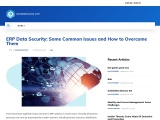 ERP Data Security: Some Common Issues and How to Overcome Them