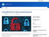 Using ERP Data For Quick Incident Response