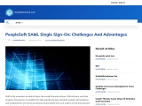 PeopleSoft SAML Single Sign-On: Challenges And Advantages