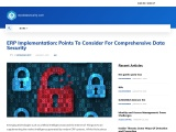 ERP Implementation: Points To Consider For Comprehensive Data Security