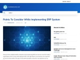 Points To Consider While Implementing ERP System