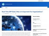 Real-Time ERP Data: Why Is It Important For Organizations?