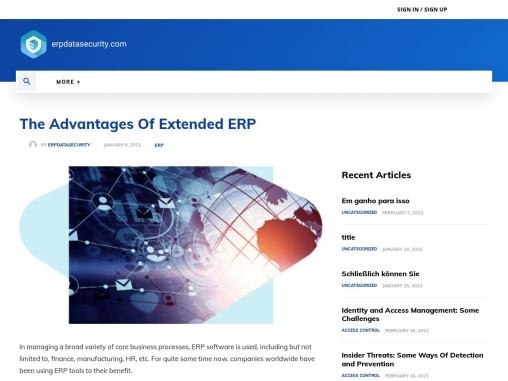The Advantages Of Extended ERP