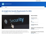 An Insight Into Security Requirements For 2021