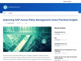Improving SAP Access Policy Management: Some Practical Insights