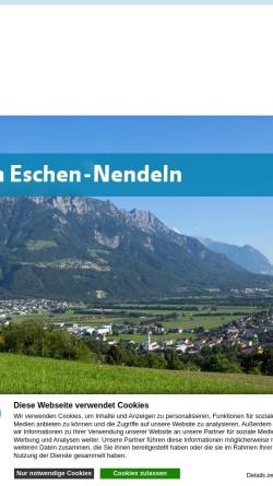 Vorschau der mobilen Webseite www.eschen.li, Gemeinde Eschen