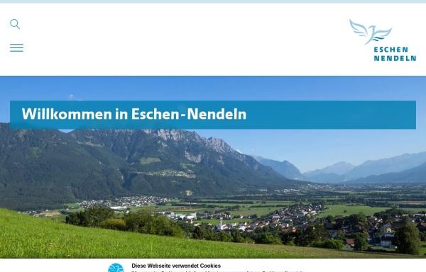 Vorschau von www.eschen.li, Gemeinde Eschen