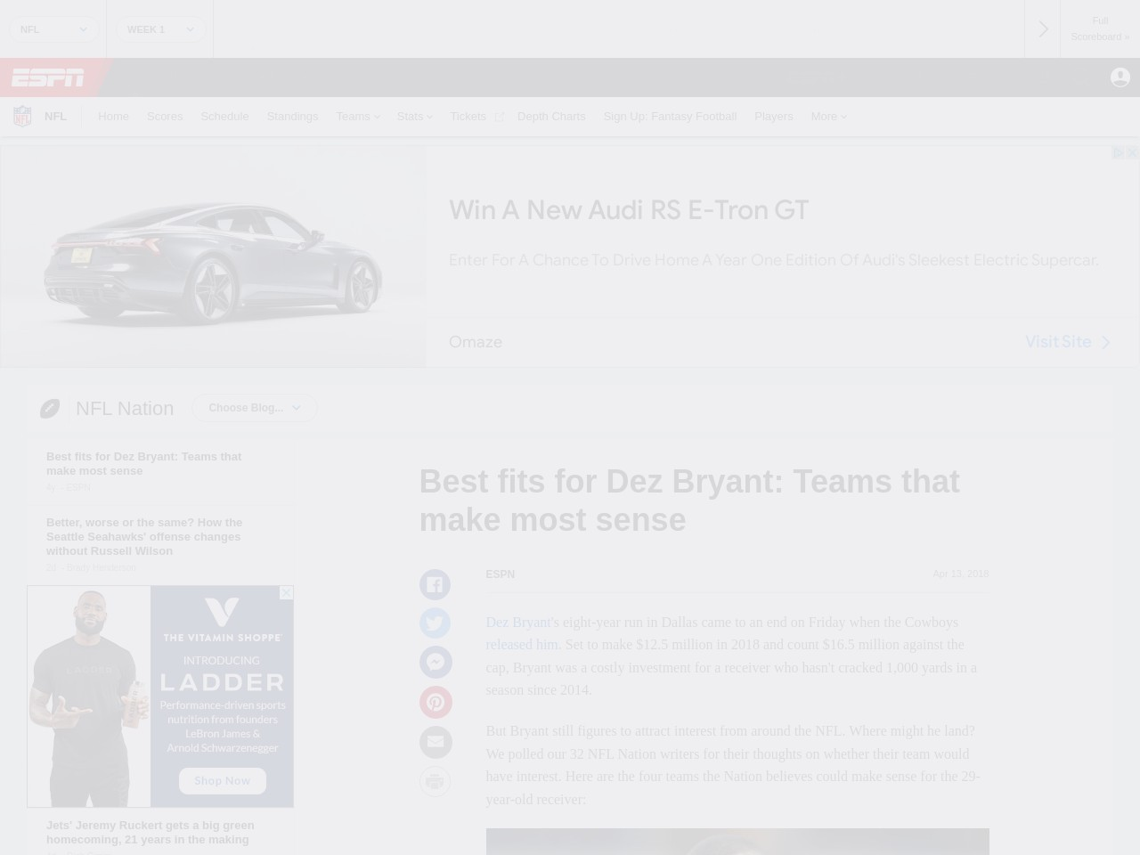 Best fits for Dez Bryant: Teams that make most sense