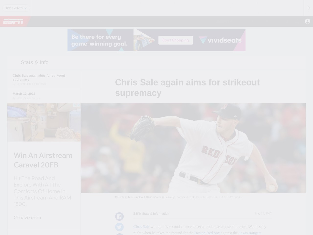 Chris Sale aims for strikeout supremacy