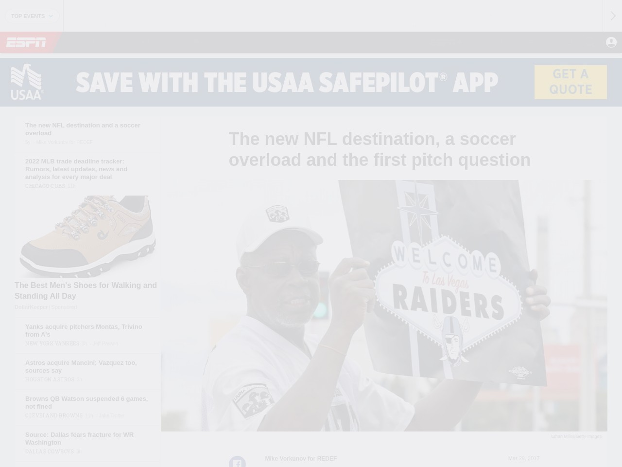 The new NFL destination and a soccer overload