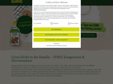 SURIG - die Essig-Essenz zum Zubereiten von Eingelegtem und Chutneys