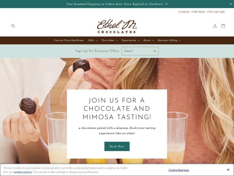 Ethel M Chocolates screenshot