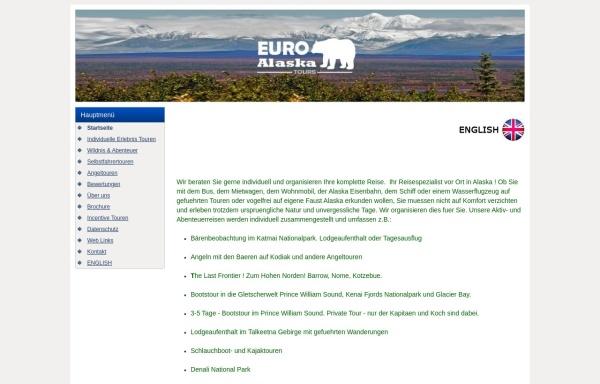 Vorschau von www.euroalaskatours.de, Euro Alaska Tours