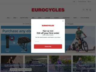 Screenshot for eurocycles.ie