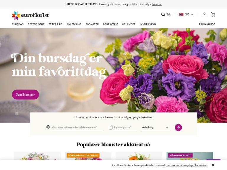 Euroflorist screenshot