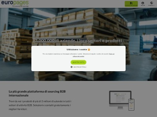 Screenshot del sito europages.it