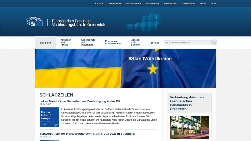 www.europarl.at Vorschau, Informationsbüro für Österreich