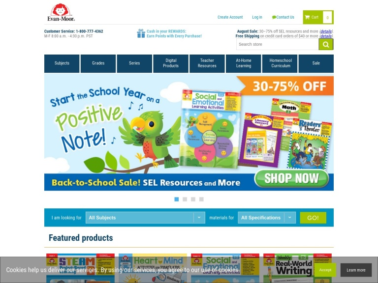 Evan-moor Educational Publishers screenshot