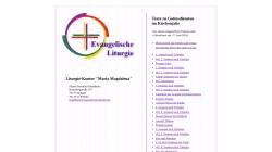 www.evangelische-liturgie.de Vorschau, Evangelische Liturgie
