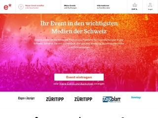 Screenshot der Website eventbooster.ch