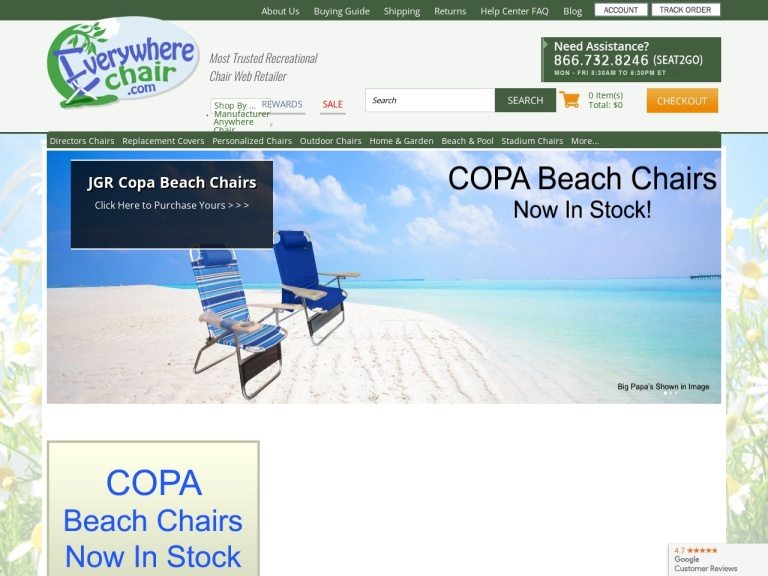 Everywhere Chair LLC screenshot