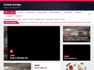 Captura de pantalla para eweekeurope.es