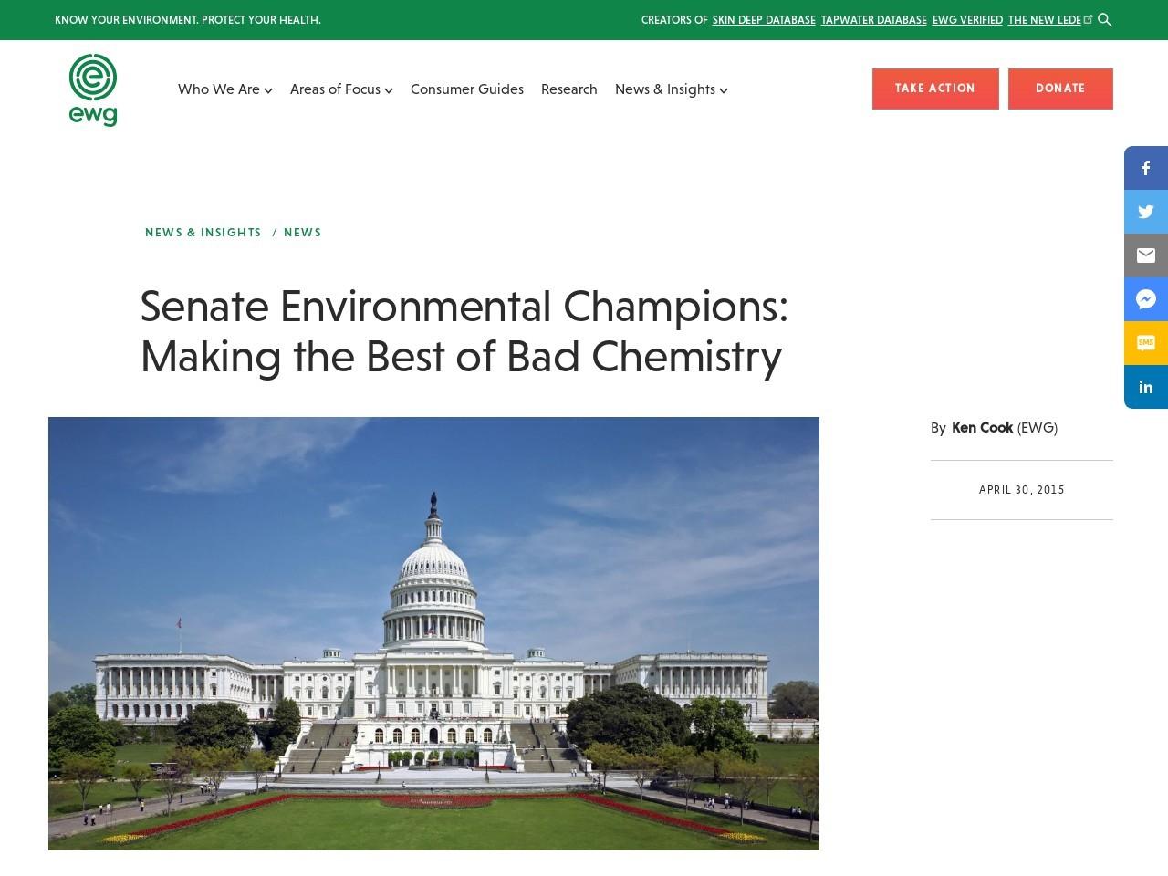 Senate Environmental Champions: Making the Best of Bad Chemistry