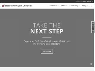 Screenshot for ewu.edu