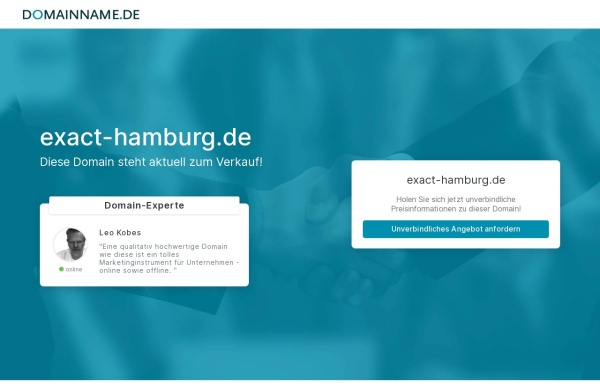 Vorschau von www.exact-hamburg.de, EXACT-Flüssiggasgerätebau GmbH