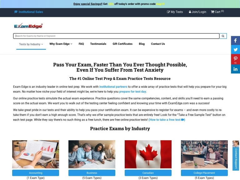 examedge.com screenshot