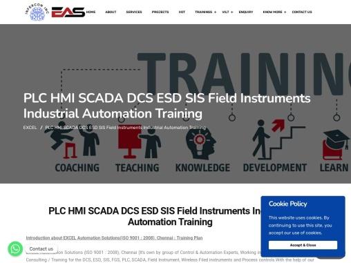 BEST PLC SCADA DCS INDUSTRIAL AUTOMATION TRAINING IN CHENNAI INDIA