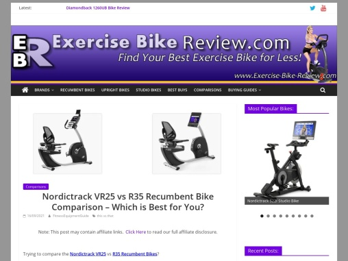 Nordictrack VR25 vs R35 Recumbent Bike – Which is Best?
