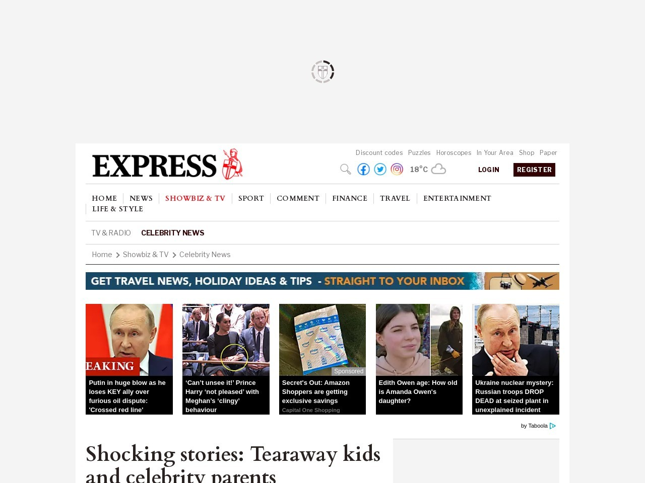 Shocking stories: Tearaway kids and celebrity parents