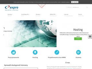 Zrzut ekranu strony expro.pl