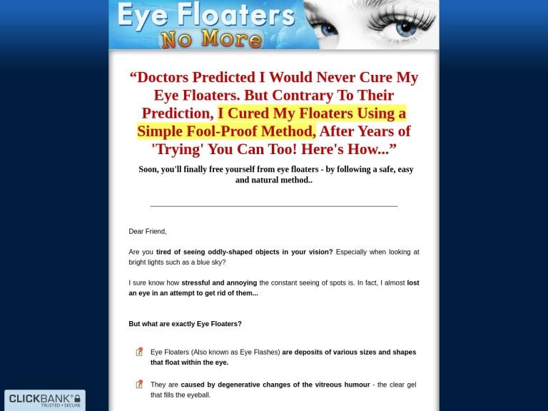 Eye Floaters No More screenshot