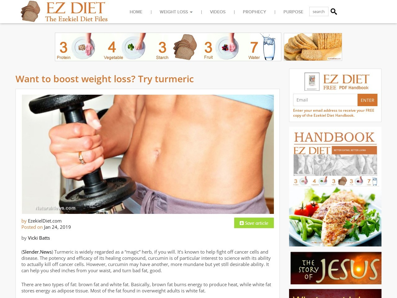Want to boost weight loss? Try turmeric | The Ezekiel Diet Files