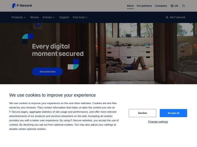 F-secure - Us screenshot