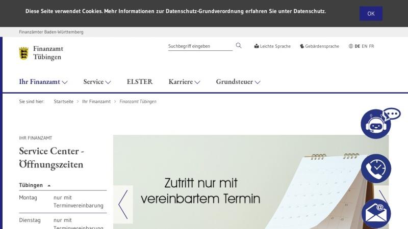 www.fa-tuebingen.de Vorschau, Finanzamt Tübingen