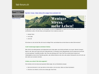 Screenshot der Website fab-forum.ch